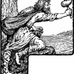 Thor threatens Greybeard (1908) by W. G. Collingwood