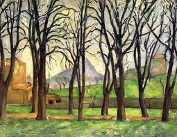 cezanne  Chestnut Trees at Jas de Bouffan