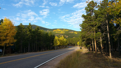 Black Mountain Drive headed toward evergreen400