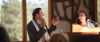 Rabbie Jamie and congregant