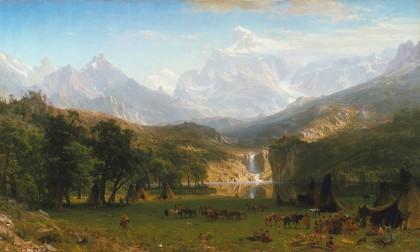 Albert Bierstadt, The Rocky Mountains, Landers Peak. 1863 Fogg Museum, Cambridge