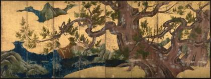 Kanō Eitoku (1543–1590), Cypress Trees