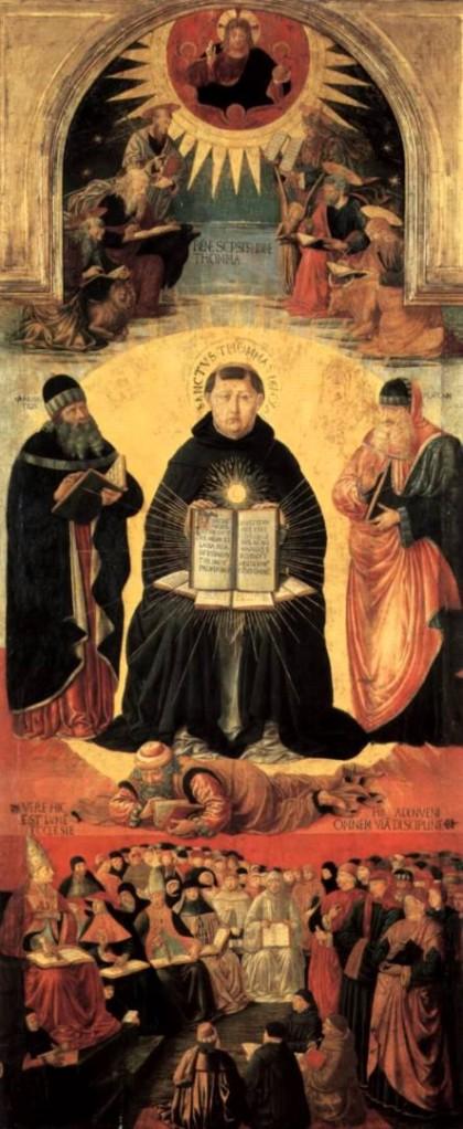 Triumph of Thomas Aquinas, Benozzo Gozzoli