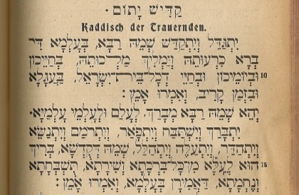 kaddish the first line from Bleichrode prayer book 1923