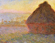 Claude_Monet_-_Claude Monet, Haystacks, (sunset), 1890–1891, Museum of Fine Arts, Boston