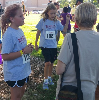 Ruth, Wilson, Kate at a cross country meet