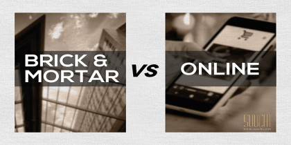 Brick Mortar vs Online - Banner