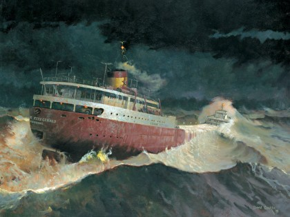 """Every Man Knew"" was commissioned from artist David Conklin by the Great Lakes Shipwreck Historical Society"