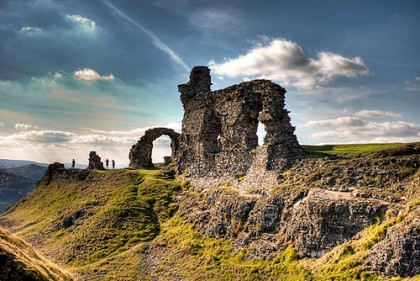dinas bran. I visited these ruins in 1995.