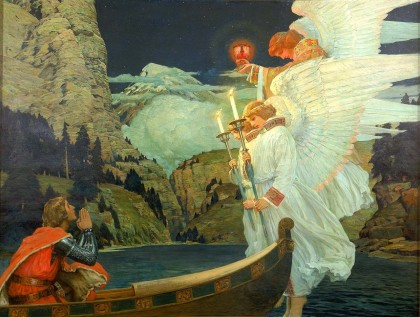 Frederick J. Waugh, The Knight of the Holy Grail, c. 1912
