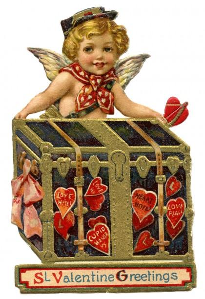 Valentine's Day Cupid-Postman-GraphicsFairy1