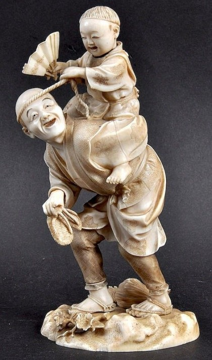 joy japanese ivory sculpture