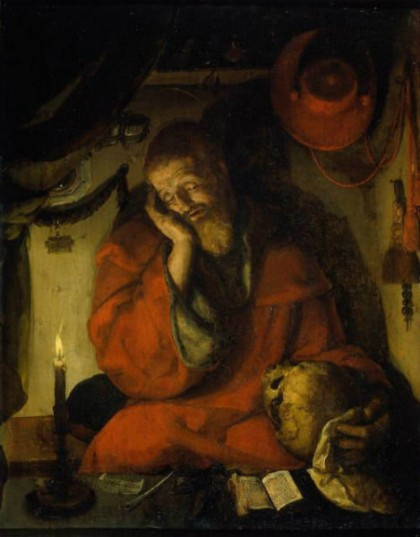 Van-Leyden St. Jerome in his Study by Candlelight (1520)