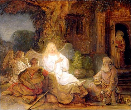 Abraham_Serving_the_Three_Angels Rembrandt_