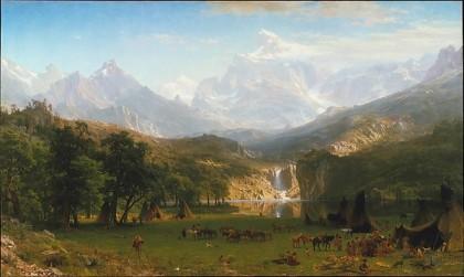 The Rocky Mountains, Lander's Peak. Albert Bierstadt 1863