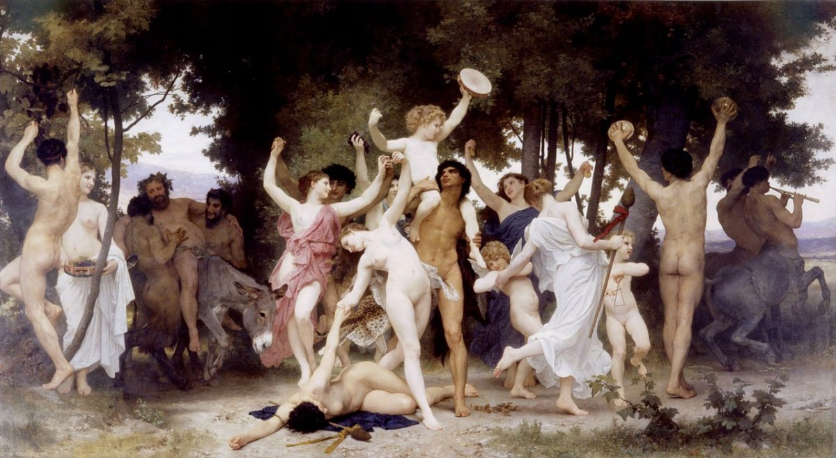 William-Adolphe Bouguereau (1825-1905) - The Youth of Bacchus (1884)