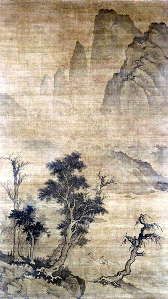 scholars in a landscape, 16th century