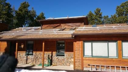 Installing solar panels, 2015