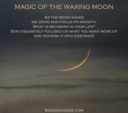 moon waxing