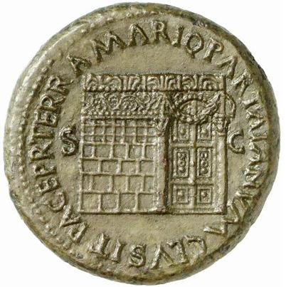 Numa's Janus Temple on a Neronian coin