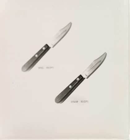 Dull Knife.Sharp Knife, William Wegman (American, born 1943), Gelatin