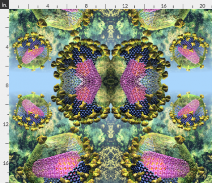 HIV virion, spoonflower