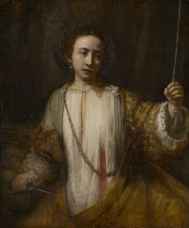 Lucretia, Rembrandt, MIA