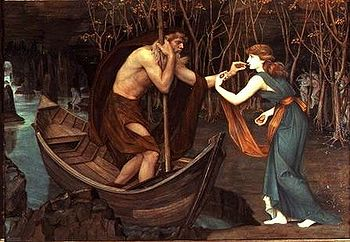 Charon and Psyche, John Roddam Spencer Stanhope. 1883